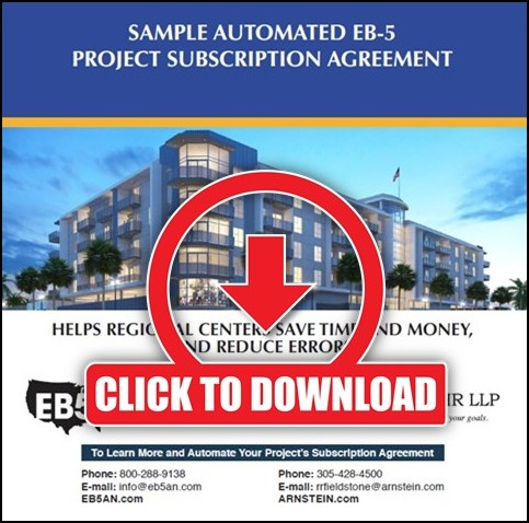 Automated EB-5 Project Subscription Agreement - EB5AN