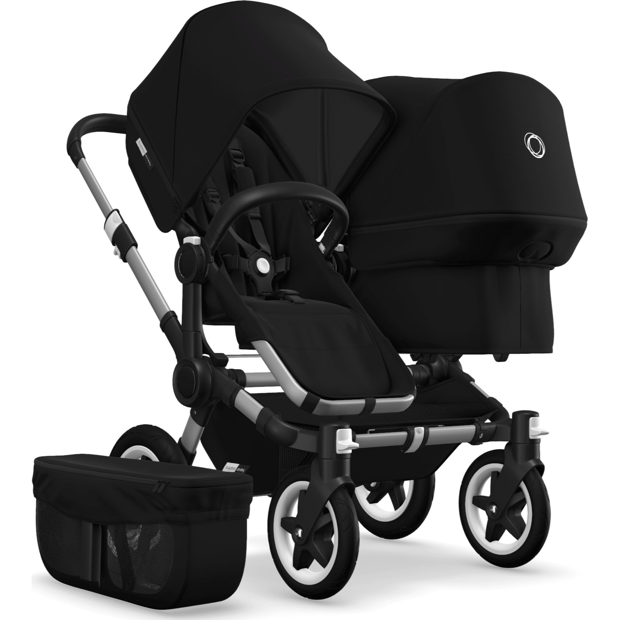 Double Pushchair Bugaboo Details About Bugaboo Donkey 2 Duo Stroller Double Pushchair Aluminium Chassis