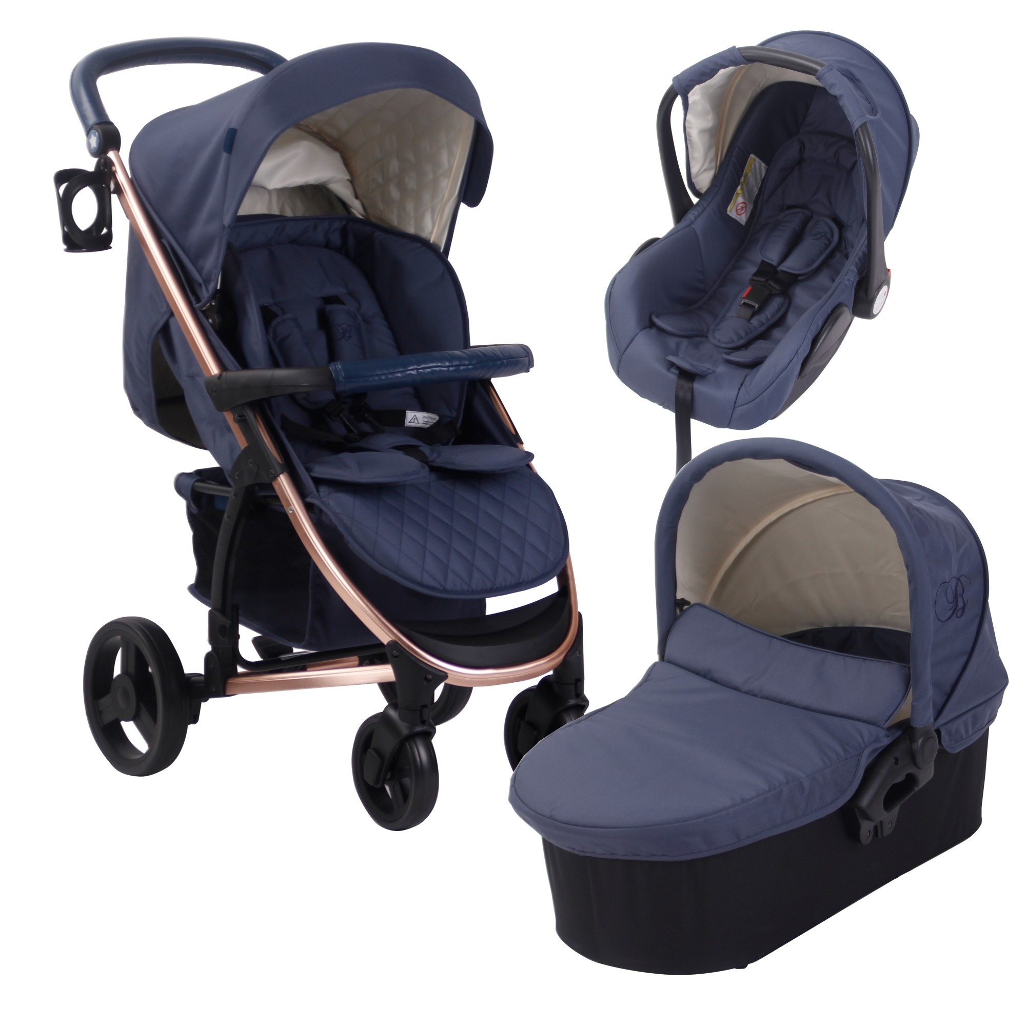 Stroller Travel System Ebay Details About My Babiie Mb200 Baby Child Travel System Billie Faiers Rose Gold Navy