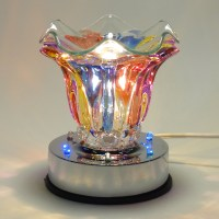 Glass Multi Colored Electric Touch Lamp With LED Light Oil ...