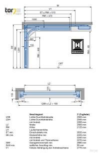 Hrmann Sektionaltor Lamelle Epu40 2500x2000m | eBay