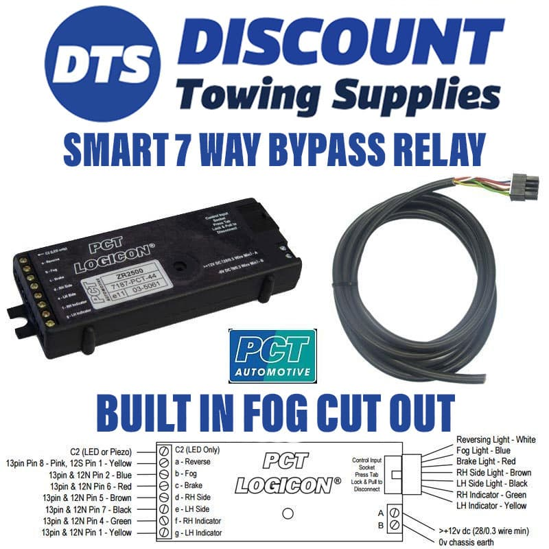 13 Pin Universal Towbar Wiring Kit Inc Bypass Relay - Wiring Solutions