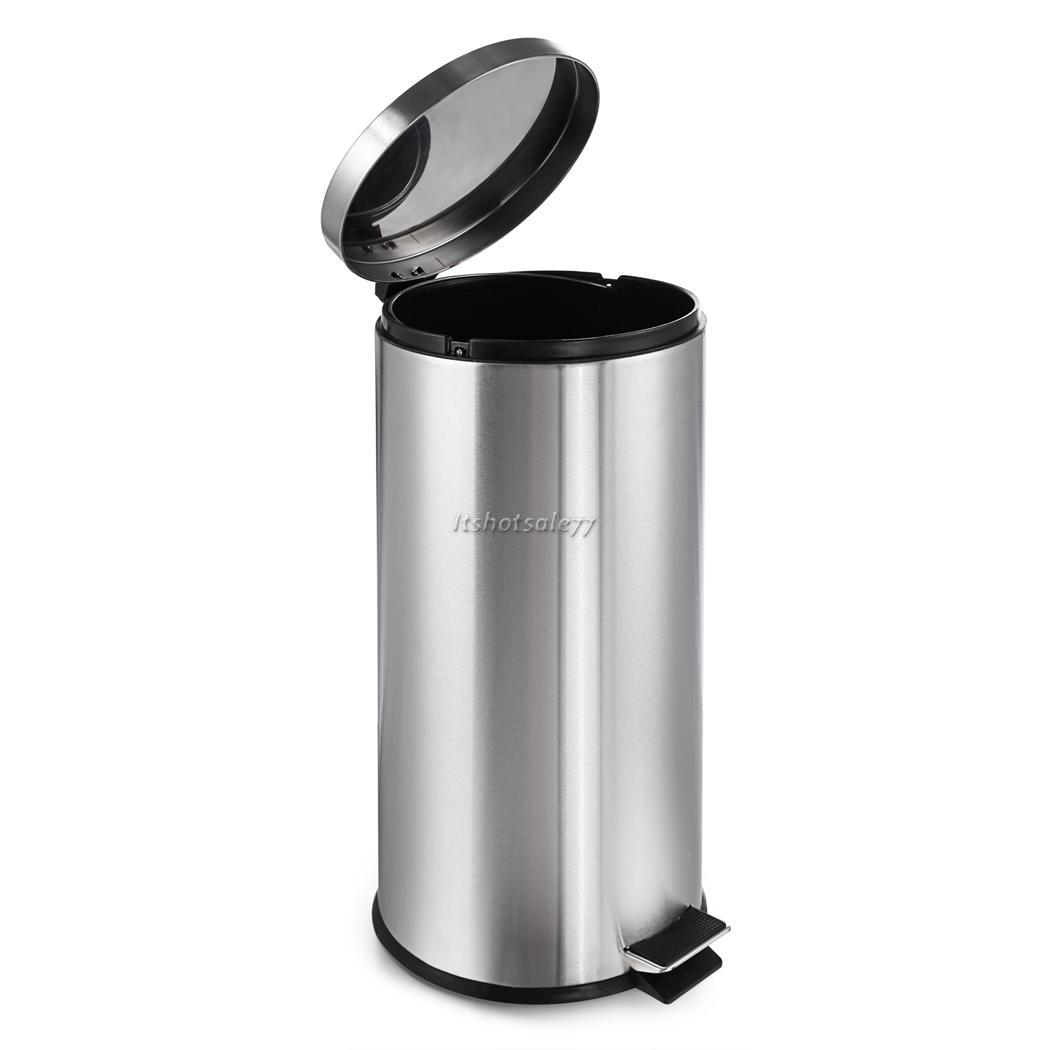 Indoor Garbage Cans Stainless Steel 30 Liter Garbage Can Office Indoor Waste
