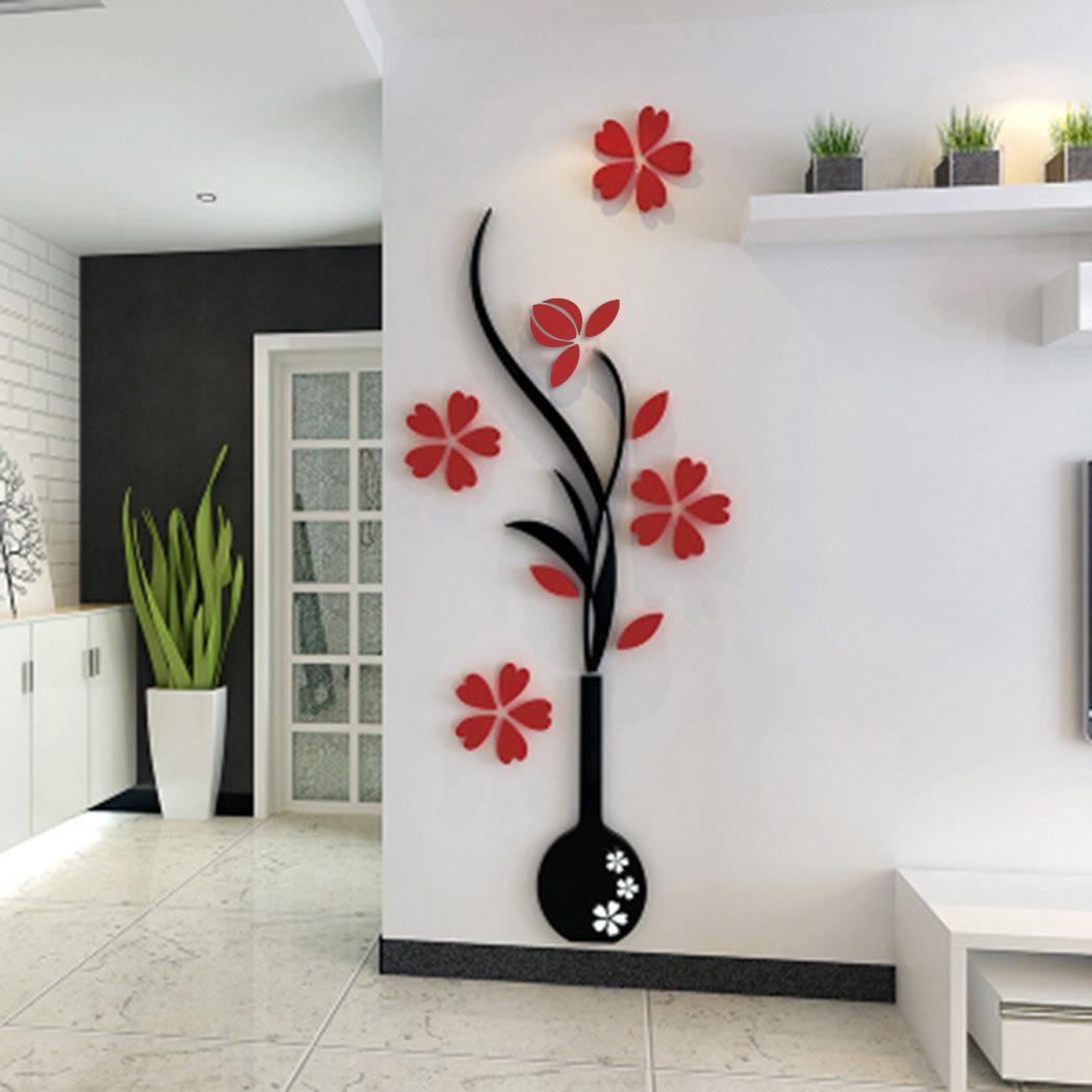 Decoration Mur Haut Decoration De Mur 3d Diy Prune Et Vase Autocollant De Mur