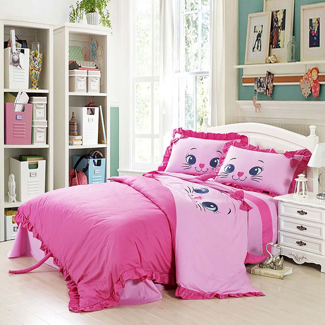 Girls Bedding Kids And Baby Kitty Bedding Set Ebeddingsets