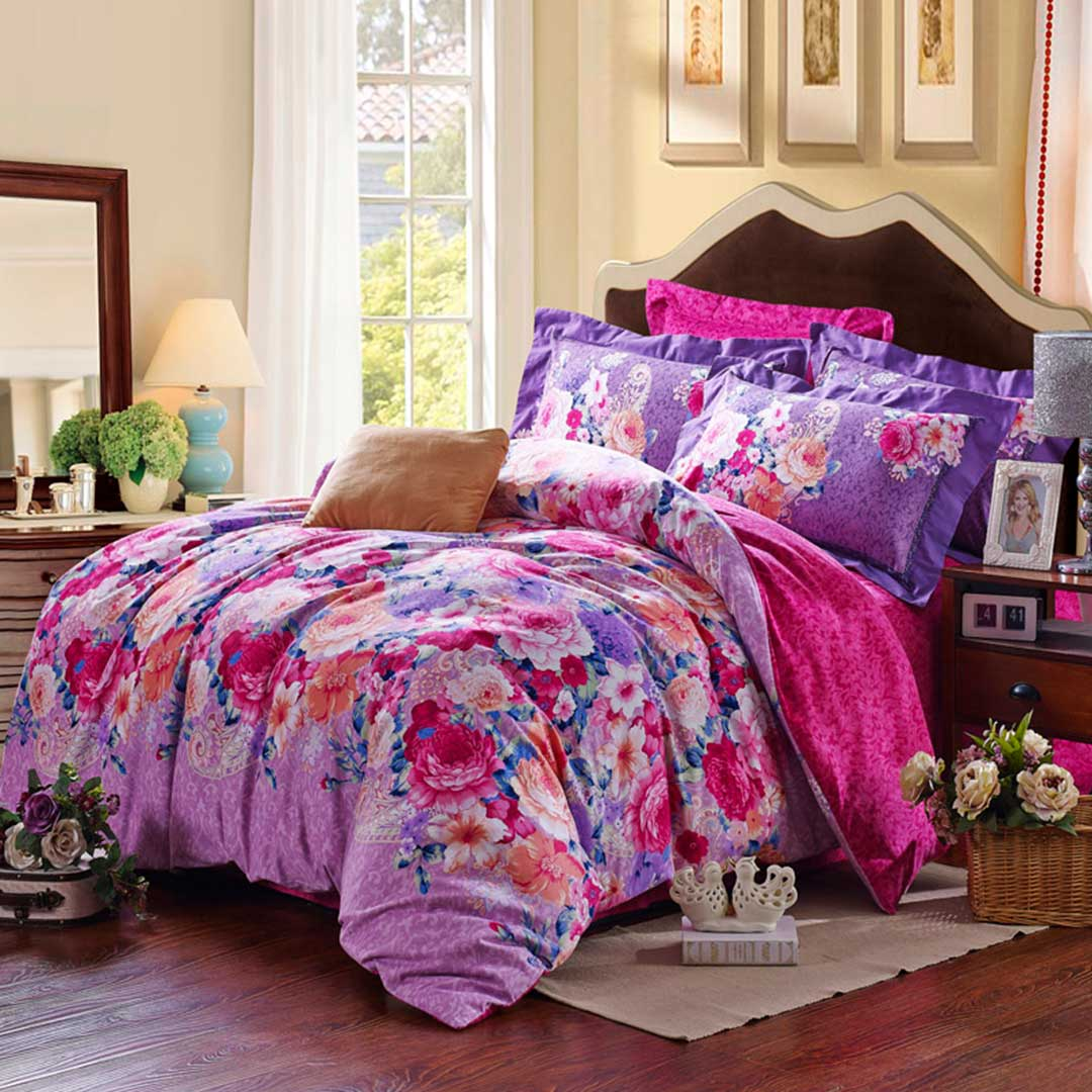 Pink Duvet Cover Pink Purple Floral Duvet Cover Sets
