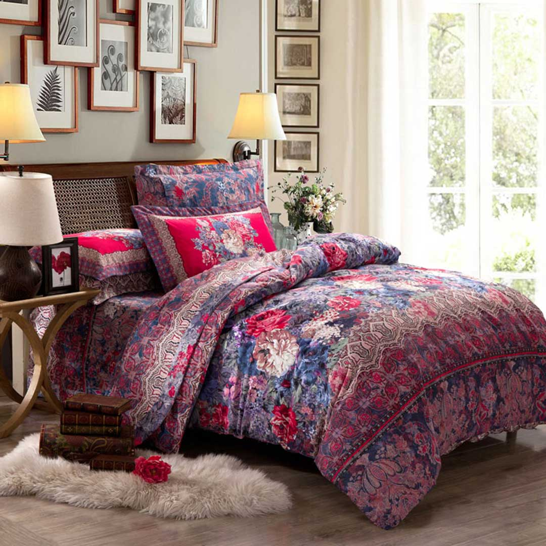 Where To Buy Nice Duvet Covers Romantic Classic Floral Duvet Cover Set
