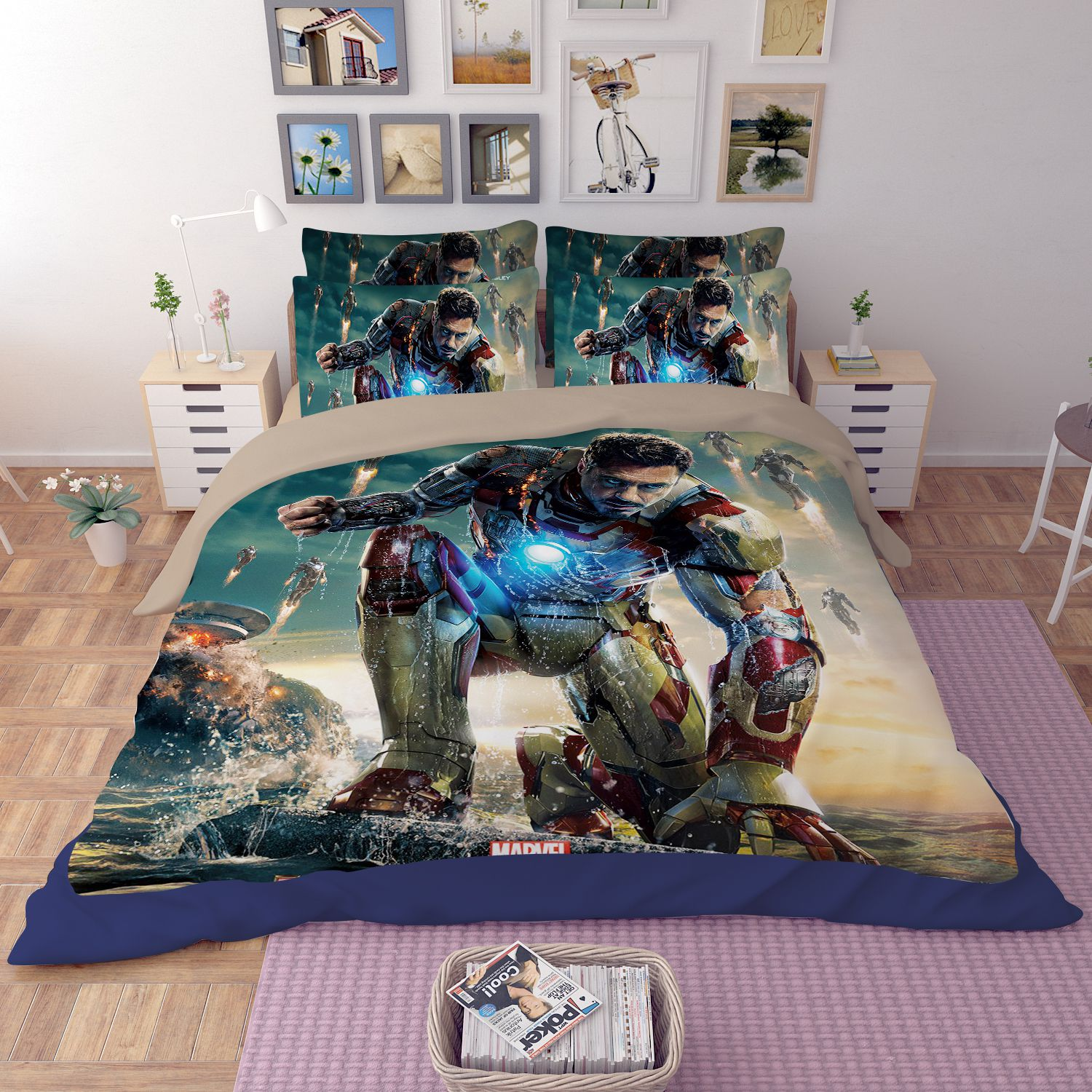 Black Friday Bettwäsche Iron Man 3 Bedding Set Ebeddingsets