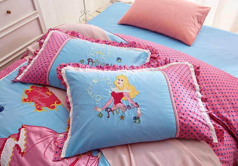 Bed 160x210 Sleeping Beauty Princess Aurora Embroidery Bedding Set
