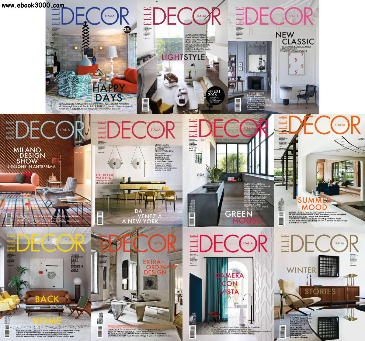 Elle Decor Italia Elle Decor Italia 2016 Full Year Issues Collection Free Ebooks