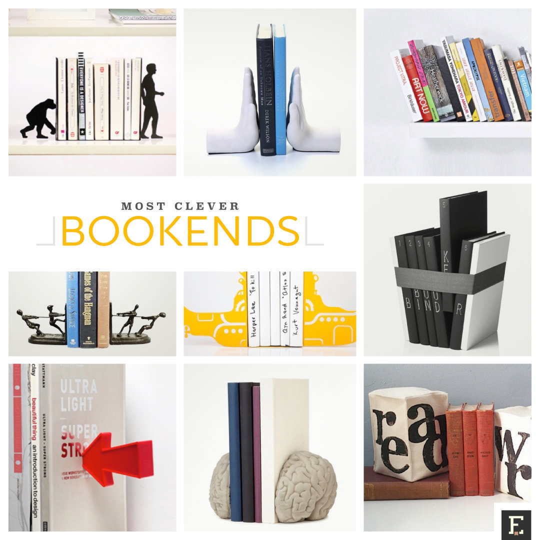Bookends Book 20 Clever Bookends To Hold Your Most Precious Books