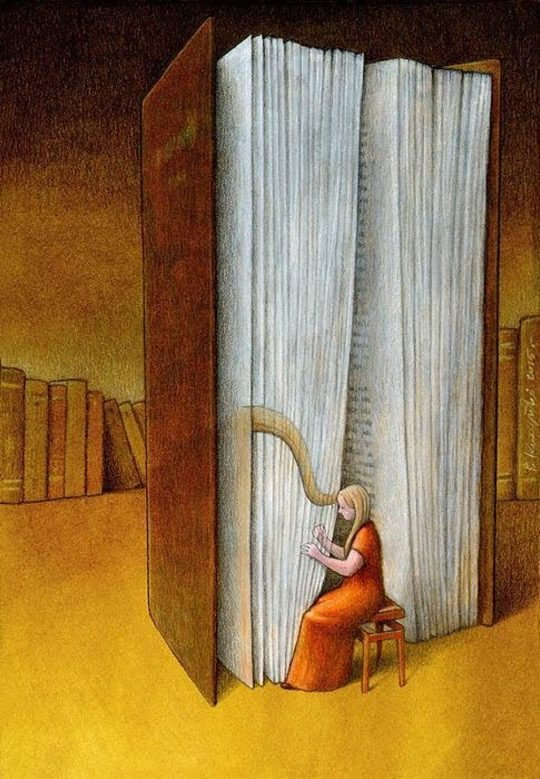Beautiful Cartoon Girl Wallpaper The Power Of Books In Brilliant Illustrations By Paweł