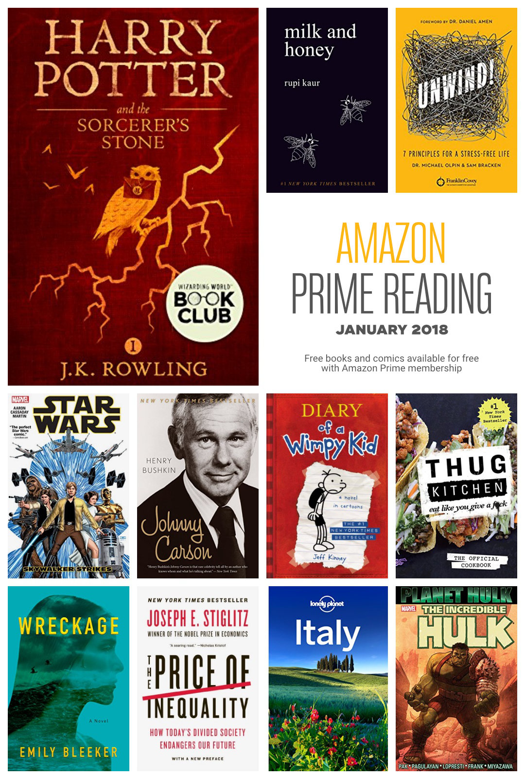 Bestsellers Libros Amazon Prime Reading The 2018 List Of Free Books And Comics