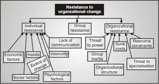 Causes of resistance to change by employees - Organizational Behaviour