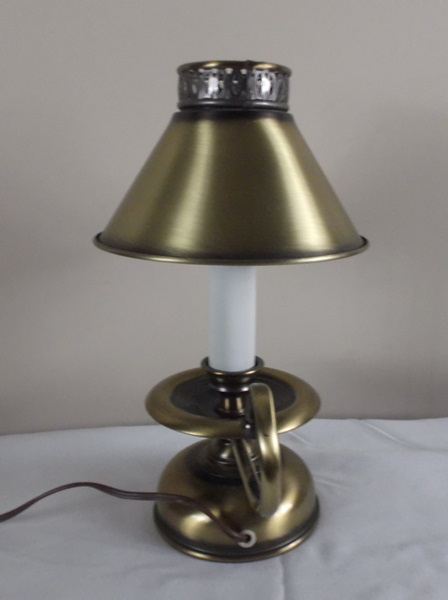 Small Brass Candlestick Style Table Lamp : EBTH