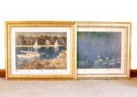 Two Framed Monet Prints : EBTH