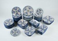 Vintage Spanish Hand Painted Pottery Dinnerware : EBTH