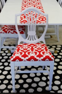 Painted Duncan Phyfe Table and Chair Set : EBTH