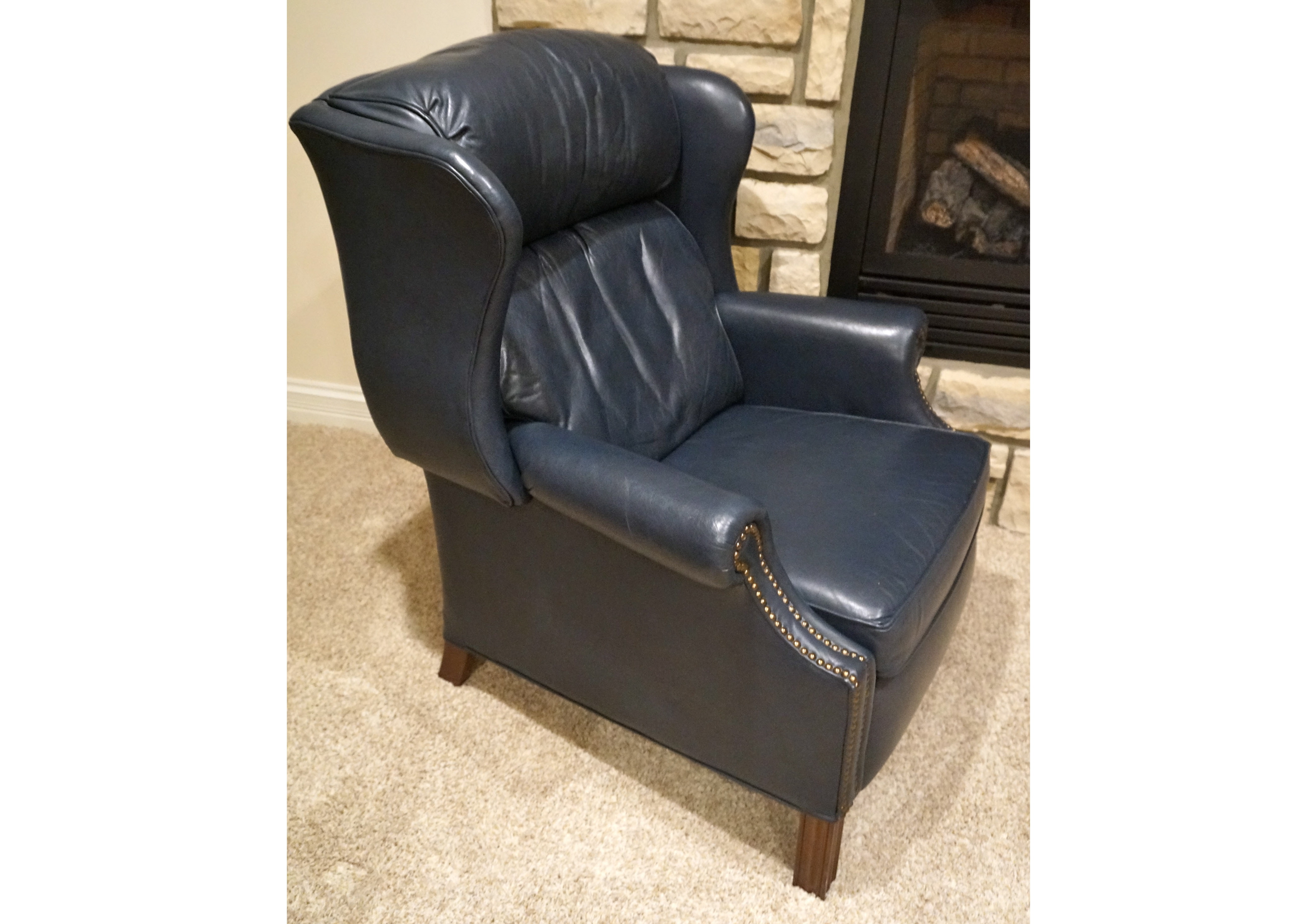 Leather Wingback Recliners Cheap Queen Anne Leather