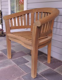 Teak Barrel Back Chair : EBTH