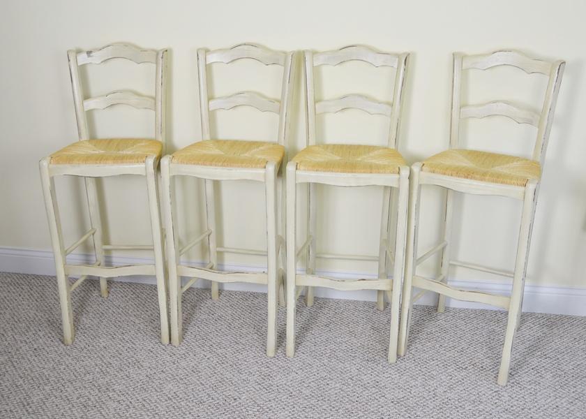 Ballard designs french country rush seat bar stools
