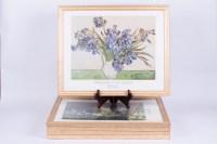 Framed Van Gogh and Monet Prints : EBTH
