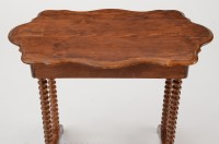 Mid-19th Century Spindle Leg Side Table : EBTH