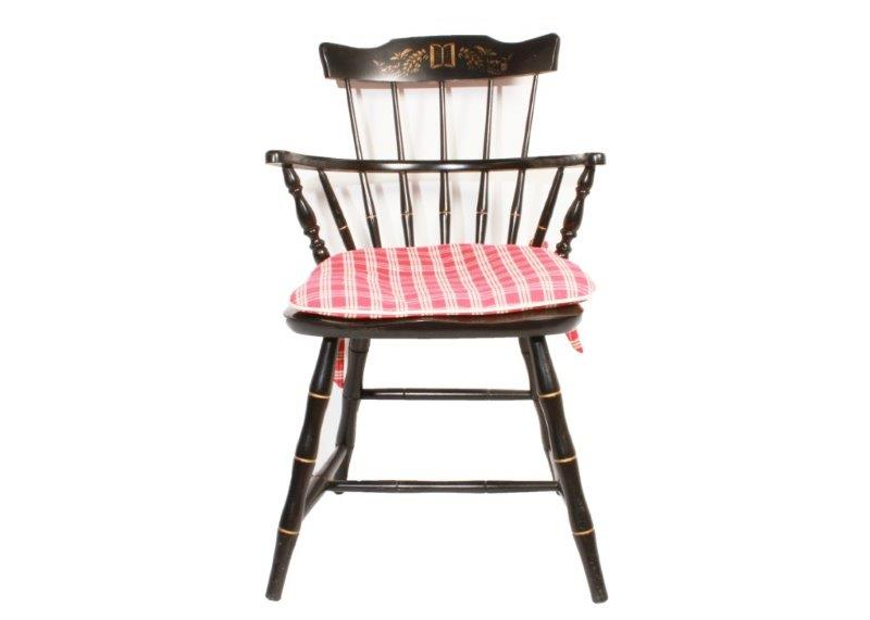 Nichols Stone Comb Back Windsor Style Chair Ebth