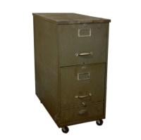 Vintage Cole Steel Three Drawer Filing Cabinet : EBTH
