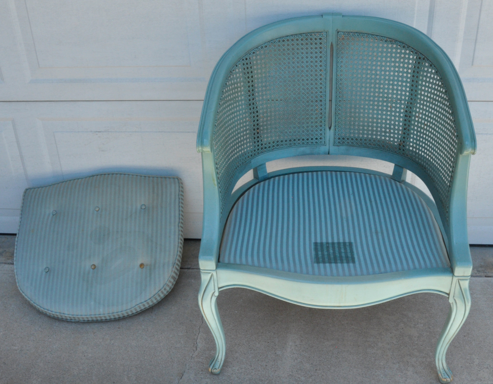 Turquoise Barrel Chair Ebth