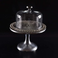 Vintage Cake Stand, Plate and Cover : EBTH
