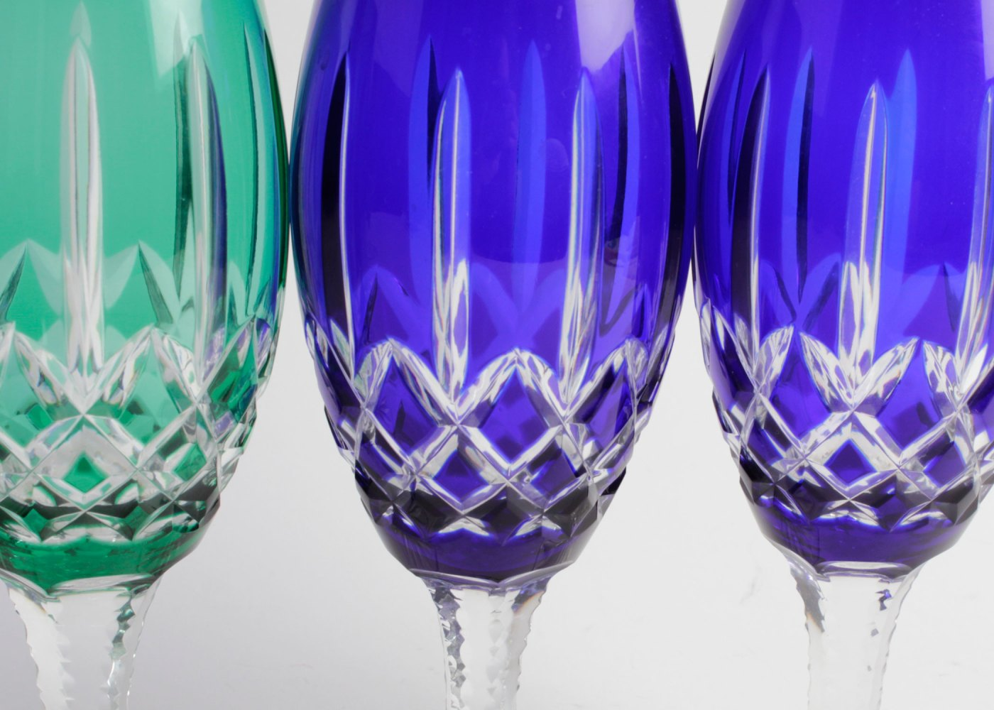Cut Crystal Wine Glasses Colored Eight Hungarian Colored Cut Crystal Wine Glasses Ebth