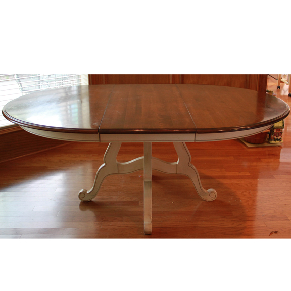 Ethan Allen Quotcountry Frenchquot Dining Table Ebth