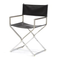 Mid-Century Style Chrome Director's Chair : EBTH