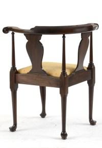 Mahogany Queen Anne Style Corner Chair by Henkel-Harris : EBTH