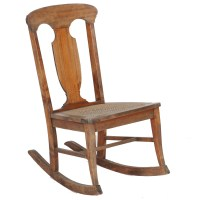 Victorian Style Wood and Cane Rocking Chair : EBTH