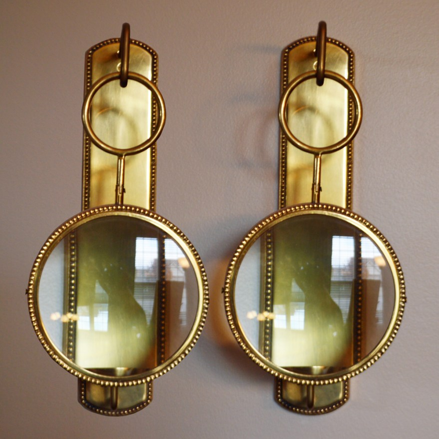 Magnifying Wall Mount Candle Sconces Ebth