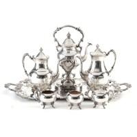 Silver Plated Tea Service and Tray : EBTH