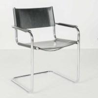 Loewnestein Oggo Mid Century Leather and Chrome Chair : EBTH