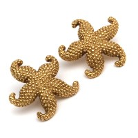 14K Gold Starfish Earrings : EBTH