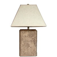 Table Lamp with Faux Stained Glass Shade : EBTH
