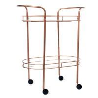 Copper Tone Metal and Glass Bar Cart : EBTH
