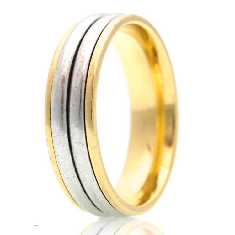 men s artcarved 18k yellow gold and platinum wedding band mens platinum wedding rings Men s Artcarved 18K Yellow Gold and Platinum Wedding