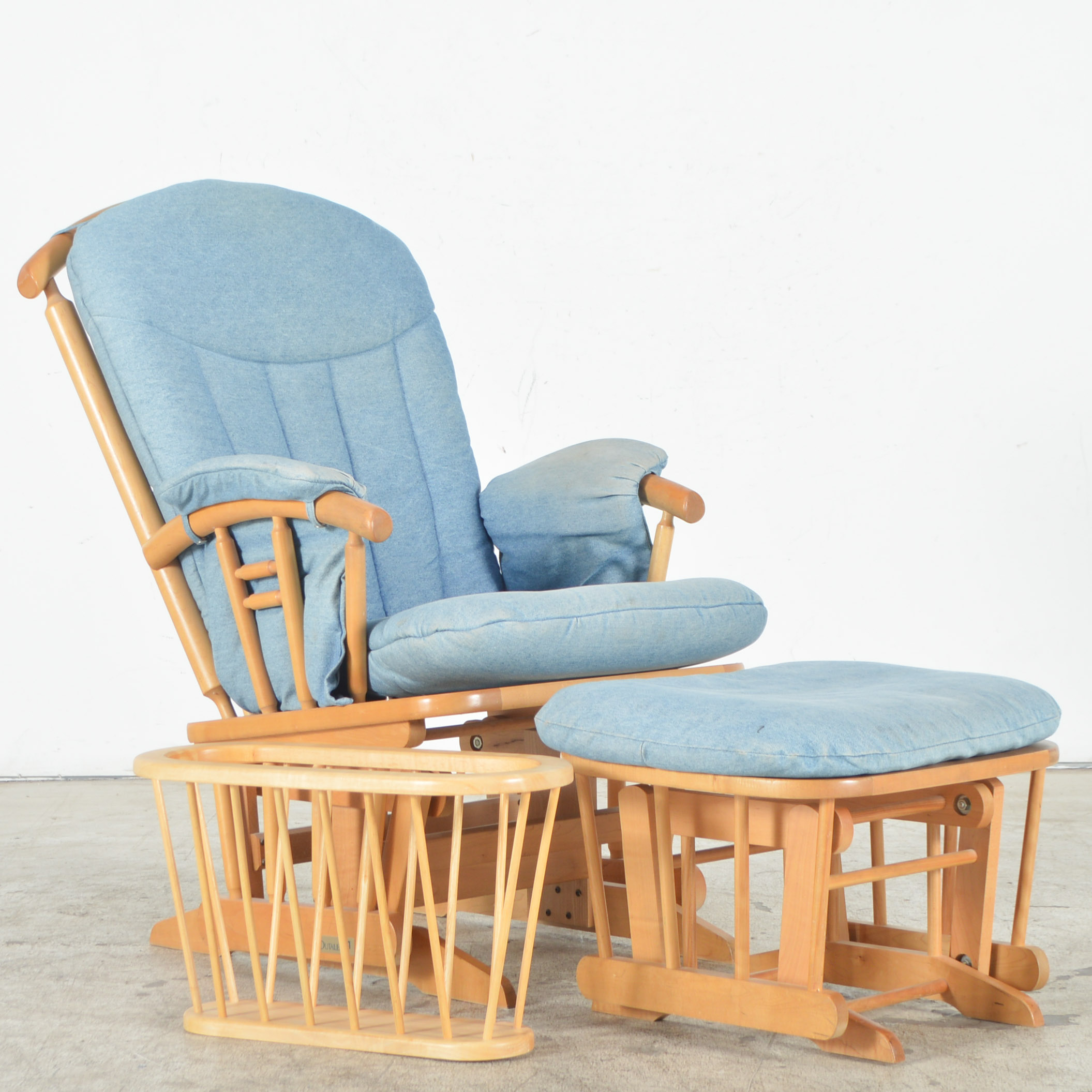 Dutailier Nursing Chair And Stool Reclining Glider