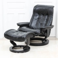 """Stressless """"Royal"""" Classic Recliner and Footrest by ..."""