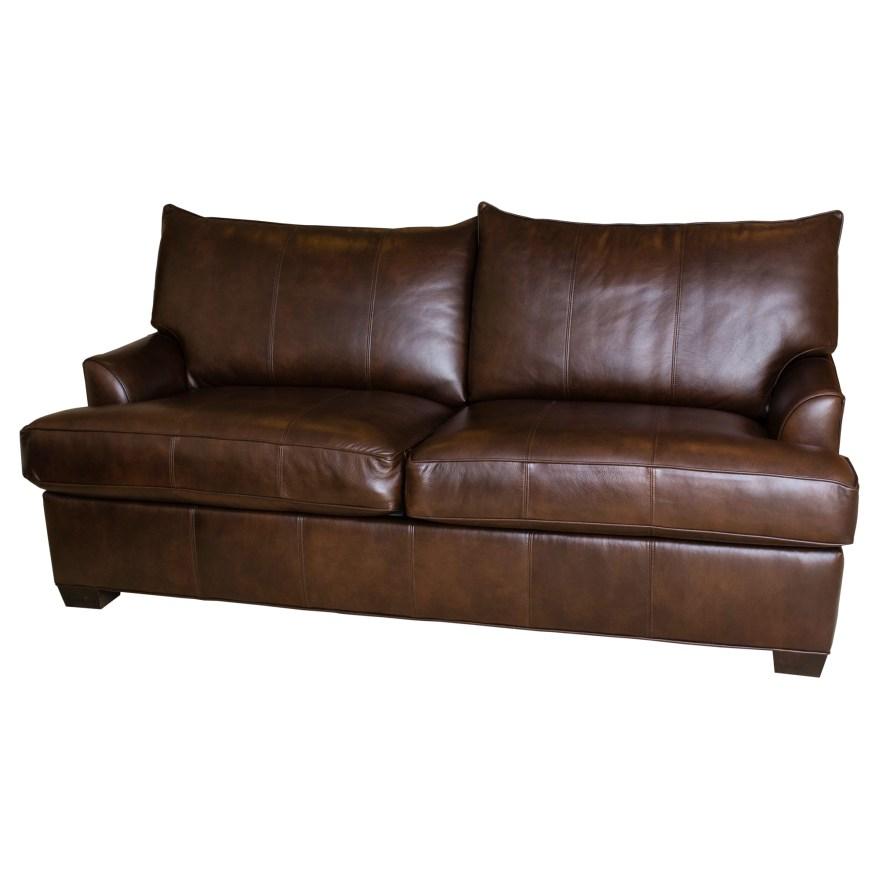 Ethan Allen Leather Sofa Ebth