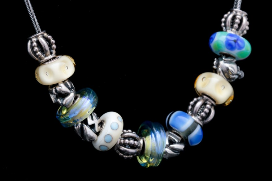 Sterling Silver And Glass Trollbeads Charms On A Robert