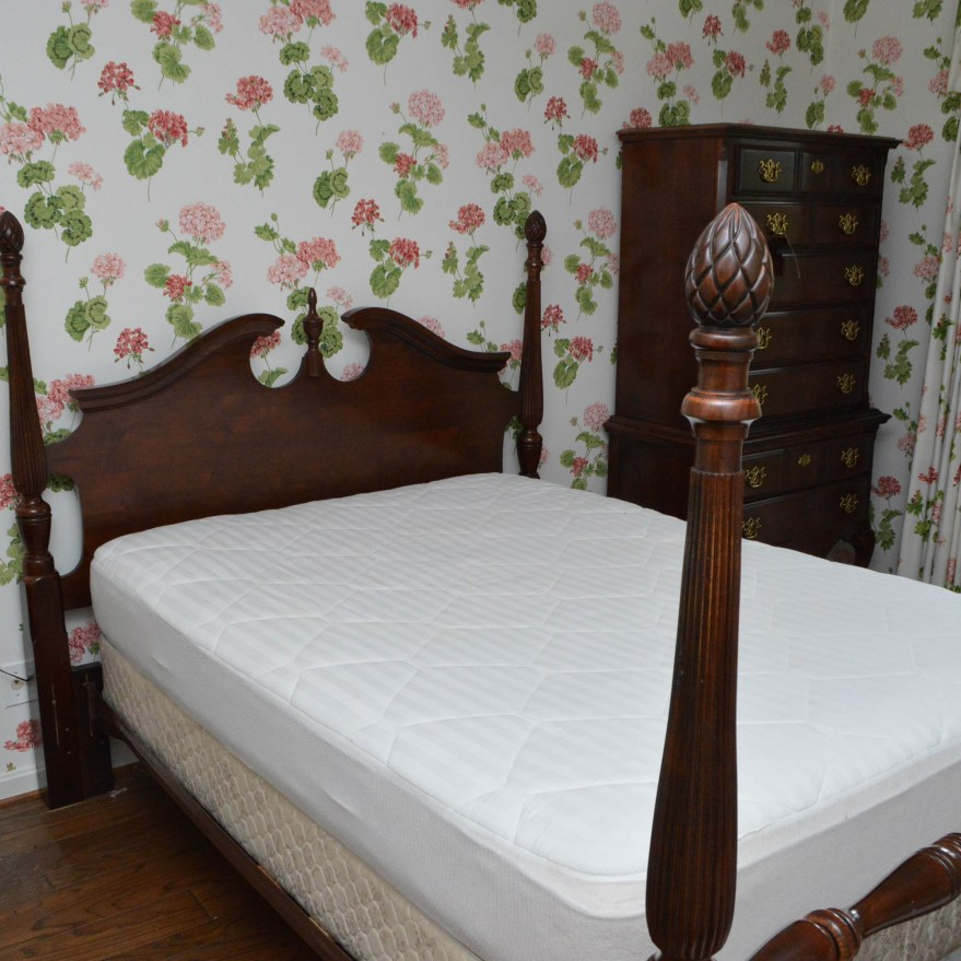 Queen Anne Style Queen Size Poster Bed Frame Ebth