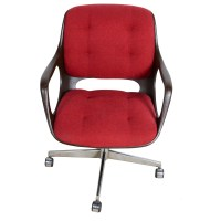 Mid Century Modern Plastic and Upholstered Office Chair : EBTH