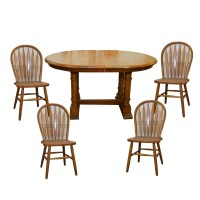 Solid Oak Dining Table Set by Cochrane : EBTH